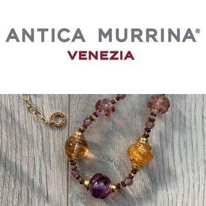 Antica Murrina- Gold Fleck Glass Bead Necklace